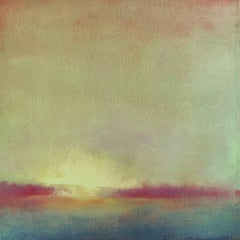 'Winter Light #1', Small Size Post-Impressionist Oil on Linen Landscape Painting