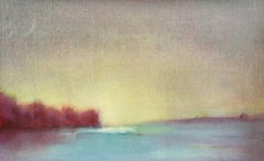 'Winter Light #2', Small Oil on Linen Post-Impressionist Landscape Painting
