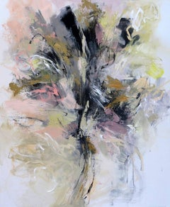 'Delicate Floral 3', Acrylic on Canvas Board Abstract Expressionist Painting