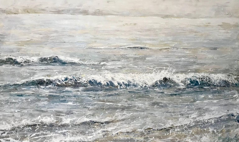 'The Sea Forever', Large Framed Impressionist Seascape Oil on Canvas Painting