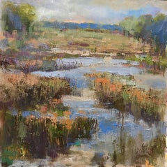 """Still Here"" Medium Square Low Country Landscape Painting"