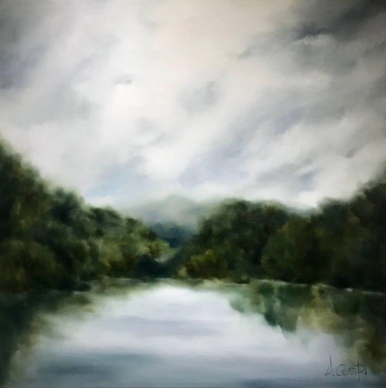 Andrea Costa's rural roots and endless love affair with the land and water are the source of inspiration for her luminous and masterful landscape paintings.  Costa approaches each painting by exploring the underlying narrative and metaphor, and