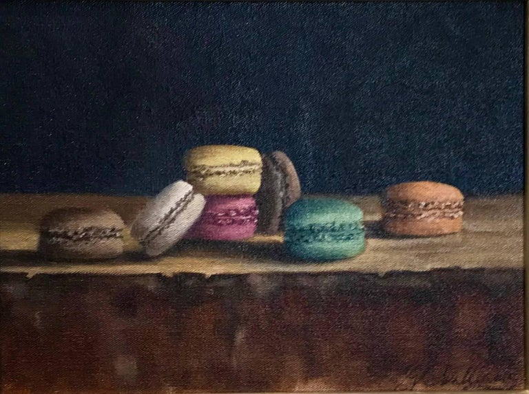 """Sweet"" Small Framed Realist Macaroon Painting"