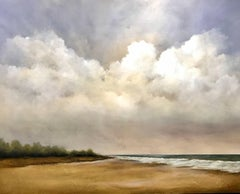 """Low Tide"" Large Horizontal Contemporary Landscape Painting"