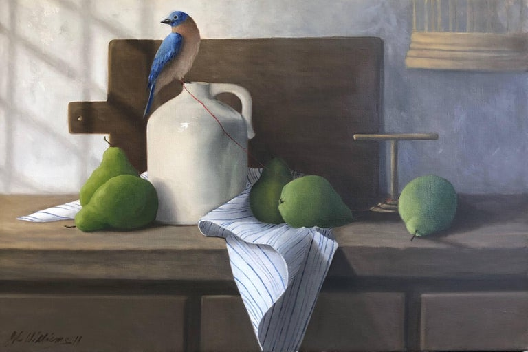 Tethered, Horizontal Oil on Linen Representational Still-Life Painting