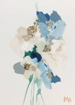 A Bundle of Seedlings No. 7, Mixed Media on Canvas Contemporary Floral Painting