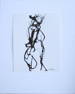 Ink #2, Petite Ink on Paper Figure Drawing