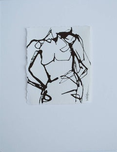 Ink #7, Petite Ink on Paper Nude