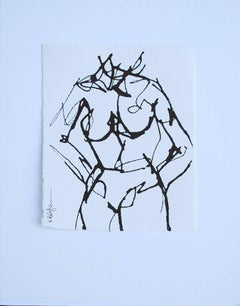 Ink #4, Petite Ink on Paper Nude