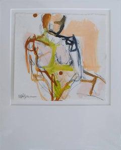 Figure #18, Petite Nude Painting on Paper