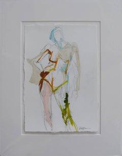 Figure #12, Petite Nude Painting on Paper