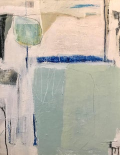 Celebration, Vertical Acrylic and Mixed Media on Canvas Abstract Painting