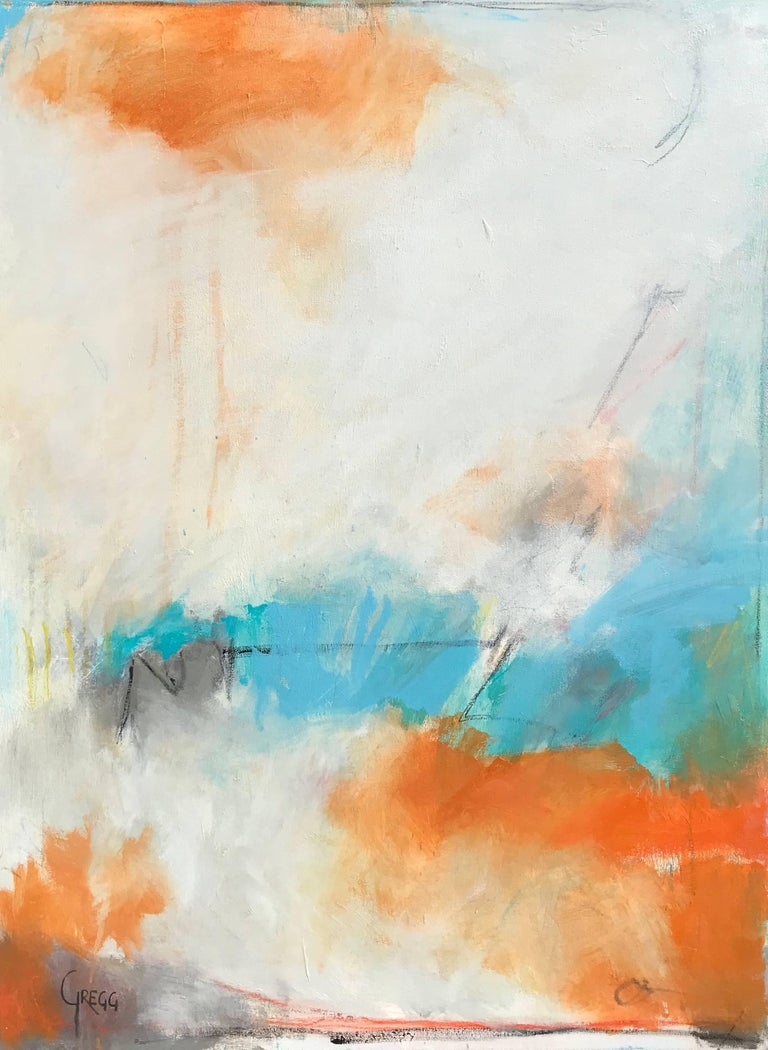Marcy Gregg - My Hope, Large Vertical Framed Abstract Painting ...