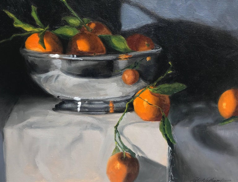 Ginny Williams, The Silver Bowl, 2018 Oil on Linen Board Still-Life Painting