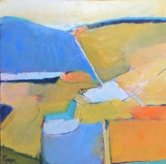 Patterns of Provence I, Marcy Gregg 2018 Abstract South of France Painting