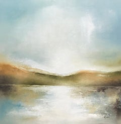 Drifting in the Cove II, Heidi Kirschner Oil on Canvas Landscape Painting