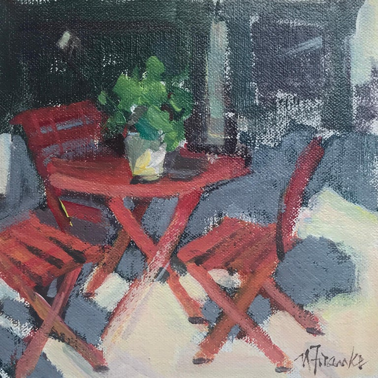 SHADY SPOT, EYGALIERES, Petite Square Framed Impressionist Painting