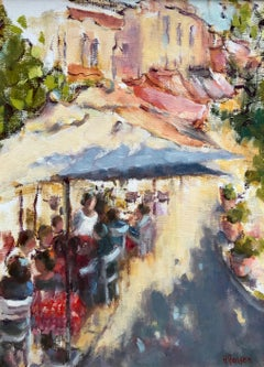 The Essential French Lunch, Helen Farson Petite Framed Impressionist Painting