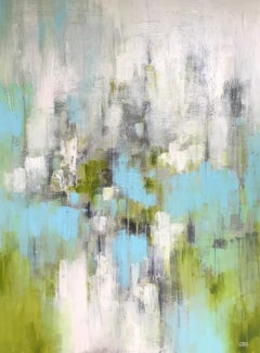 Spring Spirits, Christina Doelling, Large Vertical Abstract Painting