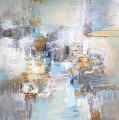 Coastal Morning, Christina Doelling 2018 Abstract Mixed Media on Canvas Painting