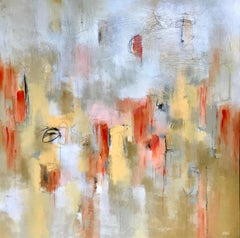 Compassion, Christina Doelling Large 2018 Abstract Painting of Square Format