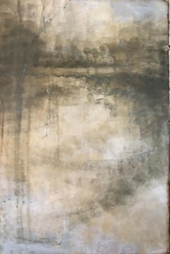 Lyrical Moonlight I, Amy Sullivan Large Vertical Abstracted Landscape Painting