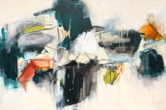 Montmartre, Augusta Wilson Large Abstract 2018 Mixed Media on Canvas Painting