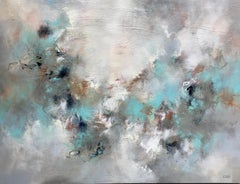 Softly Into the Light, Christina Doelling 2018 Abstract Mixed Media Painting