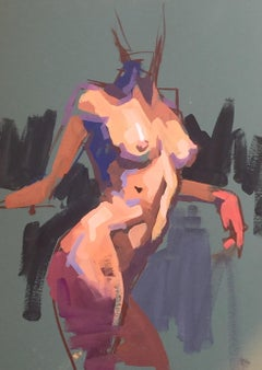 Figure Study 4 by Kendall Portis 2018, Petite Vertical Nude on Paper