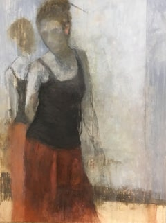 Lovely Lady by Sharon Hockfield 2018 Vertical Contemporary Figurative Painting