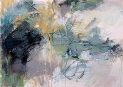 Bayside I, Debora Stewart 2018 Abstract Mixed Media on Paper Painting