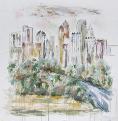 Piedmont Park - Atlanta, Georgia, Sarah Robertson Mixed Media Landscape Painting