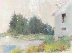 Before Sunrise, Maine, Nancy Franke Framed Oil on Linen Landscape Painting