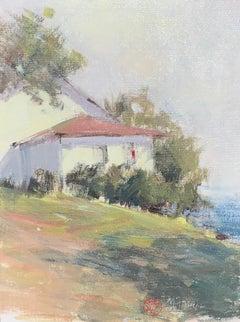 Morning Shimmer, Maine, Nancy Franke Framed Impressionist Landscape Painting