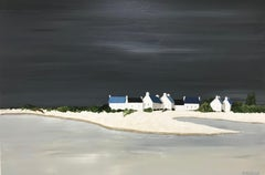 Calmness, Susan Kinsella Contemporary Acrylic on Canvas Coastal Painting