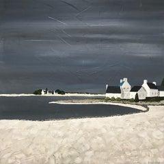 Delicate Light, Susan Kinsella Square Contemporary Coastal Landscape Painting