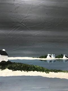 Peaceful Shores, Susan Kinsella 2018 Vertical Contemporary Coastal Painting