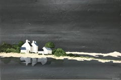 Quietly Reflecting, Susan Kinsella Horizontal Contemporary Coastal Painting