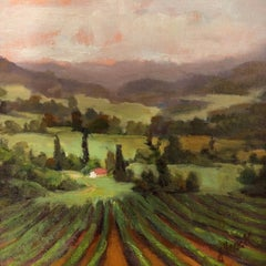 Fall in the Languedoc by Julie Houck, Post-Impressionist Landscape Painting