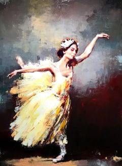 Inner Harvest by Lorraine Christie, Framed Vertical Impressionist Oil Painting