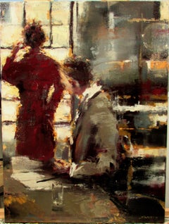 Why Now? by Lorraine Christie, Framed Impressionist Figurative Oil Painting