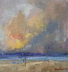 Upon One Favored Hour, Bethanne Cople Framed Impressionist Landscape Painting