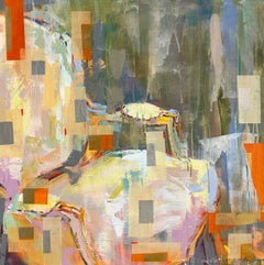 Bergere Chaise (Klimt Inspired), Amy Dixon Abstract Mixed Media on Canvas