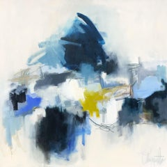 Etretat by Augusta Wilson, Large Abstract Oil on Canvas Painting
