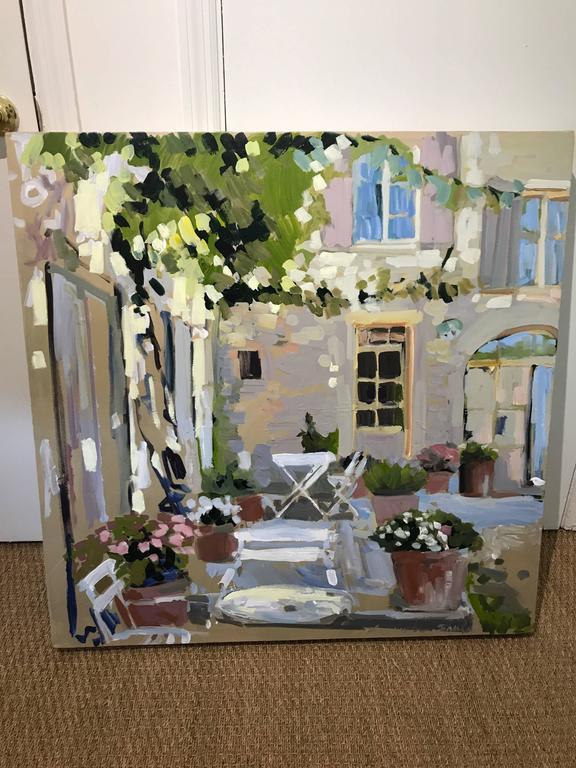 Outdoor Terrace   Impressionist Painting By Laura Lacambra Shubert