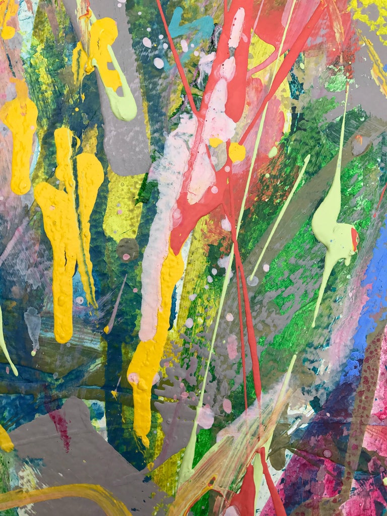 Amy Dixon Spring Splash No 1 Acrylic On Paper
