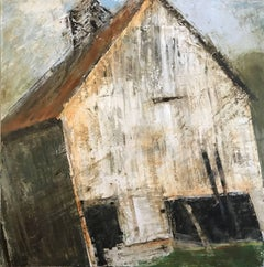"""""""Not Forgotten"""" Large Contemporary Barn Mixed Media on Board Painting"""