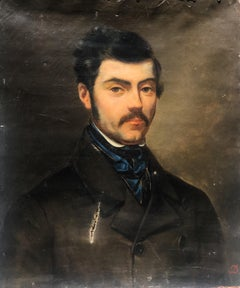Amoureux by Unknown, Late Nineteenth Century Portrait Painting on Canvas