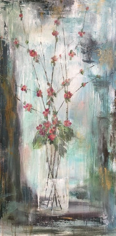 Warm Welcoming by Melissa Payne Baker 2018 Large Vertical Contemporary Floral