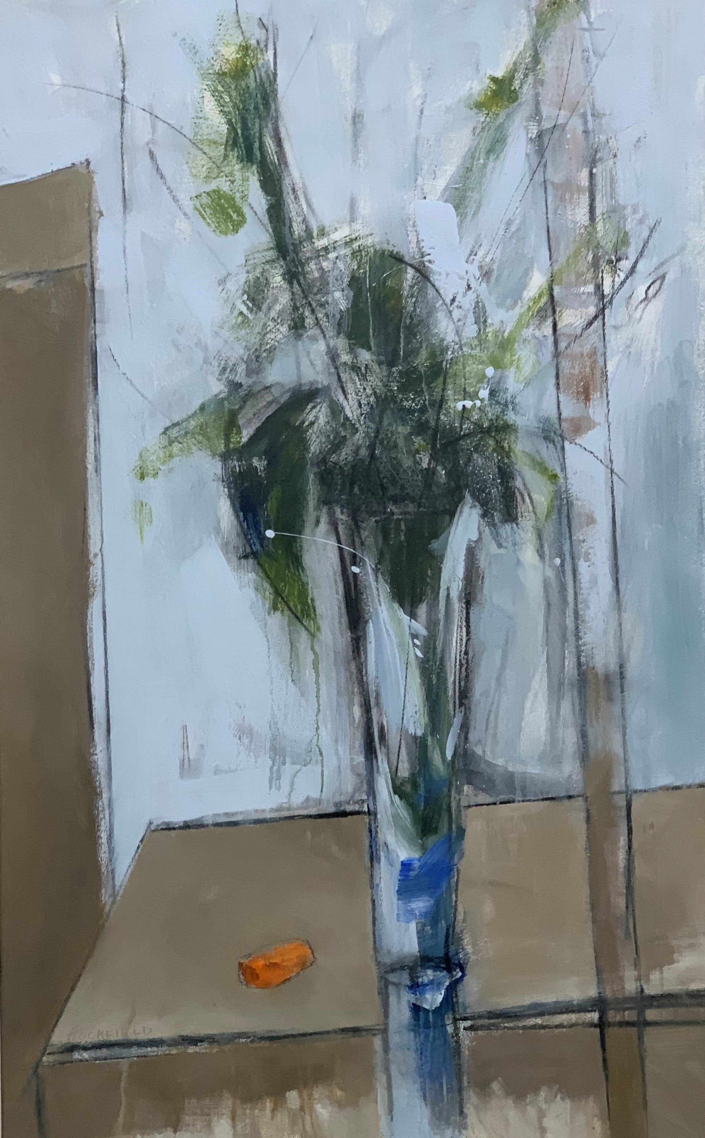 The Crystal Vase by Sharon Hockfield, Contemporary Floral Still Life